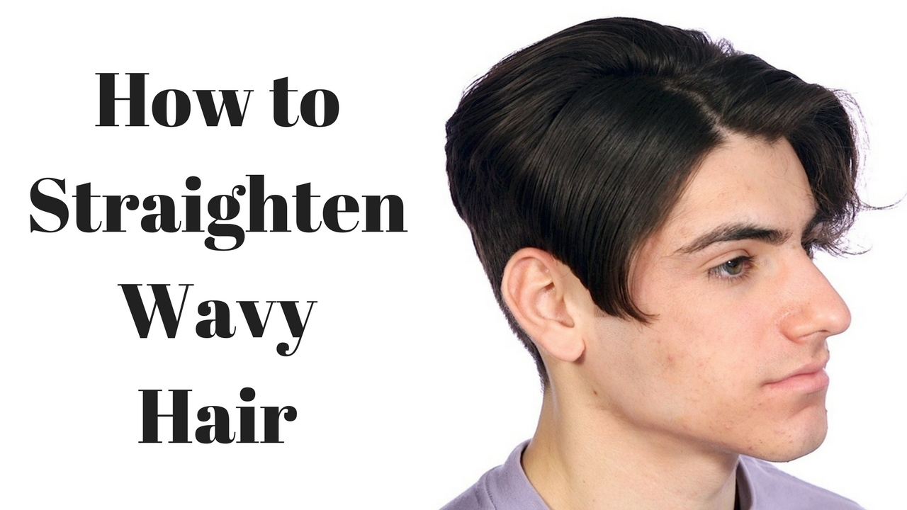 how to make wavy hair straight thesalonguy youtube