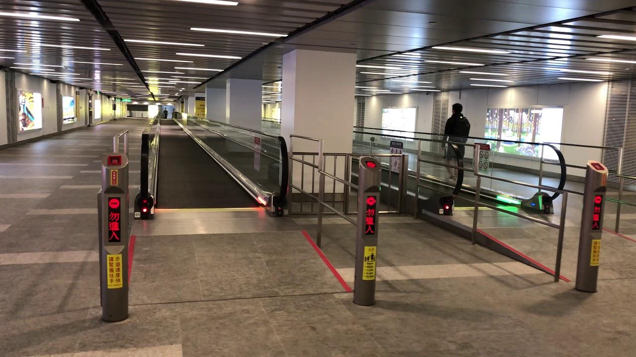 臺鐵臺北車站-桃園機場捷運臺北車站 60公尺電動步道完工啟用 - YouTube