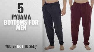 Top 10 Pyjama Bottoms For Men [2018]: CComfort Mens Lounge Wear Pants With Cuffed Bottoms or Lounge
