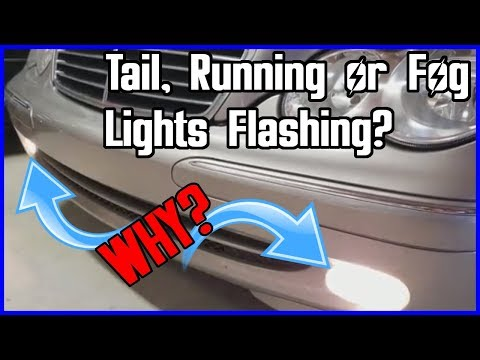 Are Your Tail, Running or Fog Lights Flashing on Your Mercedes? Here is how to fix it EASY!