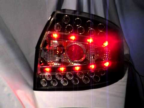 led r ckleuchten audi a4 b6 black by sw tuning youtube