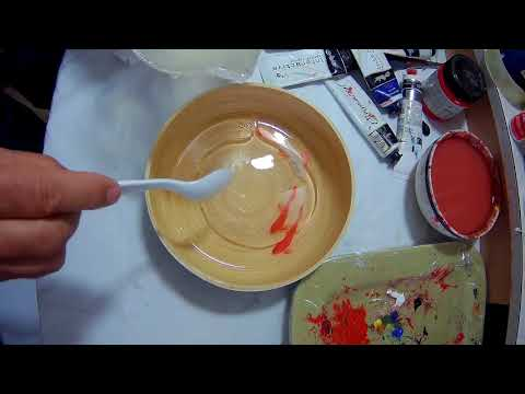 3d painting art in clear resin