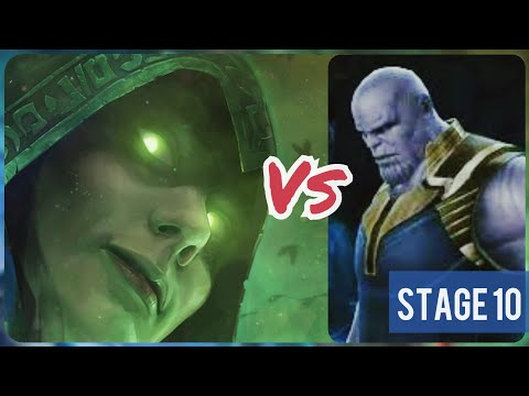 Morgan Le Fay Vs Stage 10 Thanos World Boss Ultimate | WBU | Marvel Future Fight