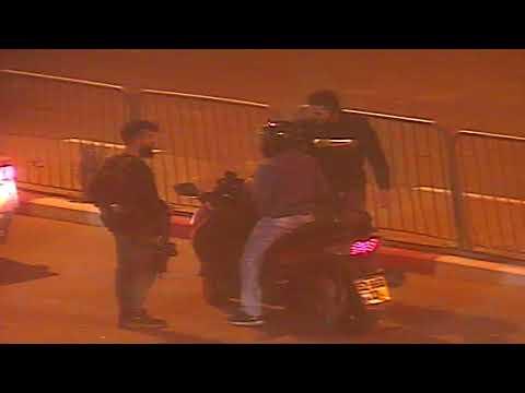 מעצר של גנב קטנוע מרחובות