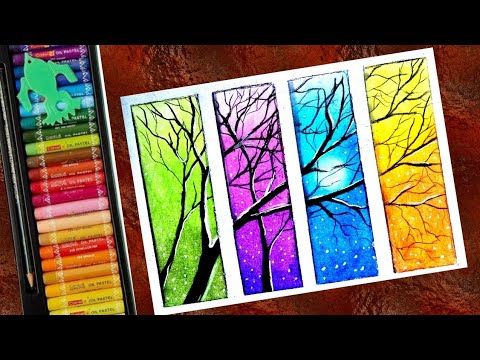 Beautiful Landscape Scenery Drawing With Oil Pastel Step