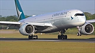 Close Up Arrivals at Manchester Airport, RWY05R | 06/06/18