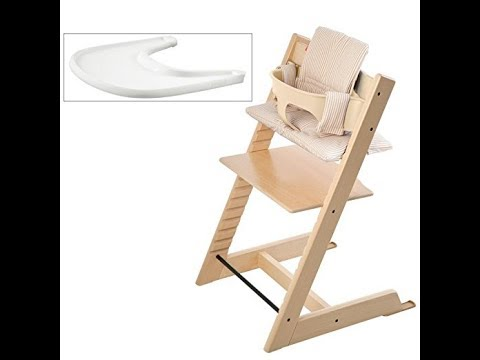 Stokke Tripp Trapp High Chair Bundle, Natural with Beige Stripe Cushion