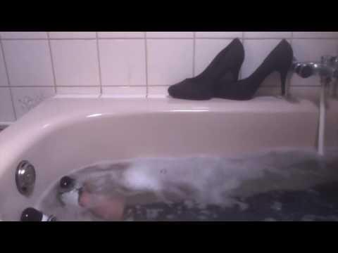 Heels and flats in bath