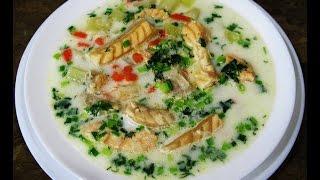 Сливочный суп из животиков семги.