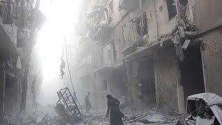 أخبار عربية - قتلى وحالات اختناق في قصف ببراميل تحوي غاز الكلور بحي الصخور في حلب