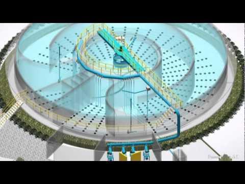 Tratamiento de aguas planta circular 3d autocad youtube - Tratamiento de agua ...
