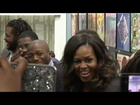 DJ Frosty - Michelle Obama surprises students at Detroit museum