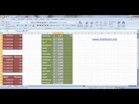 Index & Match Formula 12 - Reference & Area To lookup Ans From 3 Different Tables English