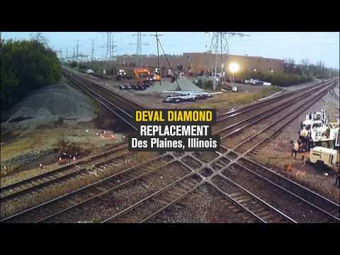 Chicago's Five-Track Deval Diamond Replaced in Under Two Minutes
