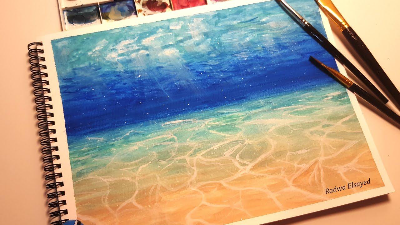 Watercolor Underwater Scene  YouTube