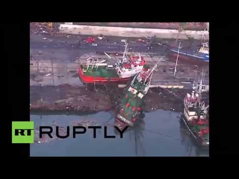 Chile: Aerial footage shows destruction wrought by 8.3 quake
