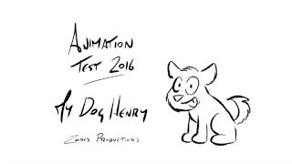Animation Test 2016: My dog Henry
