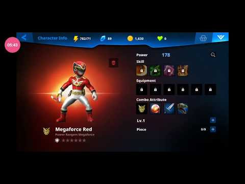 NEW Power Rangers RPG Mobile Game - All Available Characters (CLOSED BETA Version)