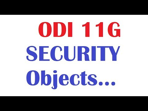 Security, Profiles, Users creation in Oracle Data Integrator  www.oditraining.com