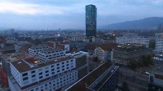 Turbinenplatz Puls 5 Fitnesspark aerial view by Drone