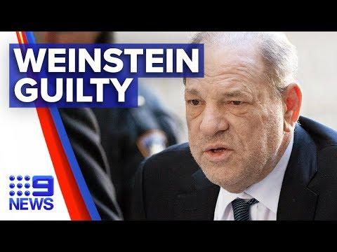 Harvey Weinstein convicted of sexual assault | Nine News Australia