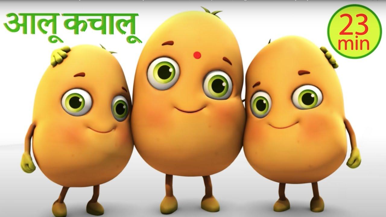 Aloo Kachaloo Kahan Gaye The - Hindi Rhymes | Nursery Rhymes compilation from Jugnu Kids