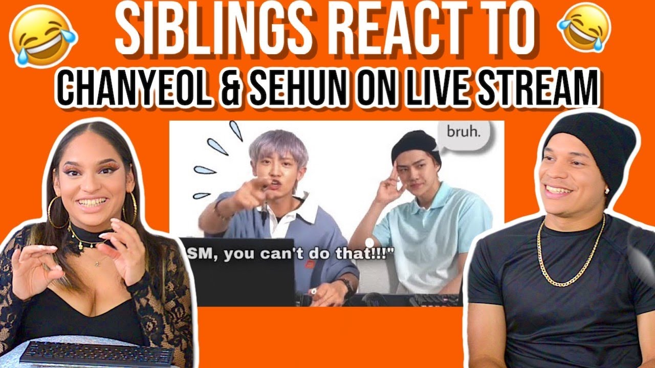 Waleska & Efra react to EXO's Chanyeol & Sehun on a livestream together😬👀😂| REACTION