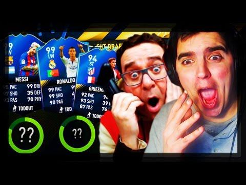 O RIC DESISTIU DO FUT DRAFT ÀS CEGAS!? | FIFA 17 c/Ric