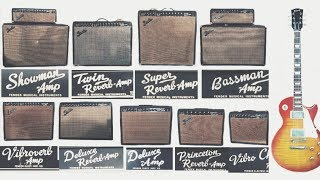 Comparing 9 Original Fender BLACKFACE AMPS Twin Showman Vibroverb Deluxe Champ Bassman Super Reverb