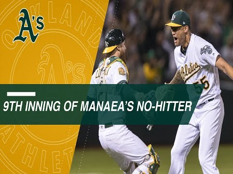 Relive the final three outs of Sean Manaea's no-hitter