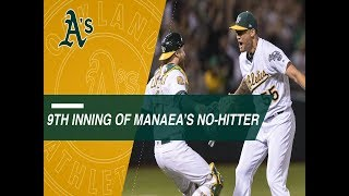 Relive the final three outs of Sean Manaea\'s no-hitter