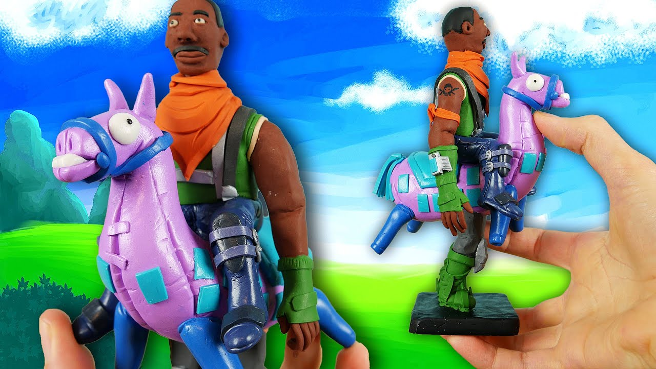 Making GIDDY-UP from Fortnite: Battle Royale in POLYMER CLAY!