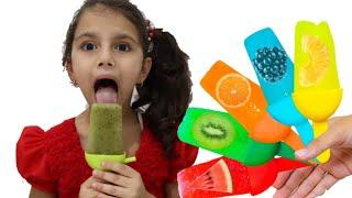 سوار تصنع ايسكريم الفواكة | sewar learn color with fruit ice cream - Kinderlieder und lernen Farben