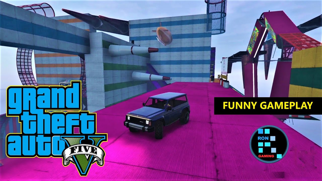 GRAND THEFT AUTO V | FUNNY GAMEPLAY, AMAZING CAR PARKOUR thumbnail