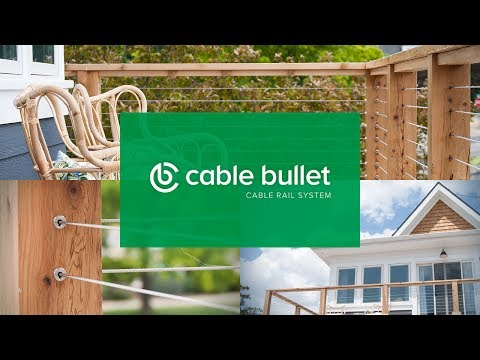 How to Install DIY Cable Railing on a Cedar Post Deck - Cable Bullet Cable Rail System