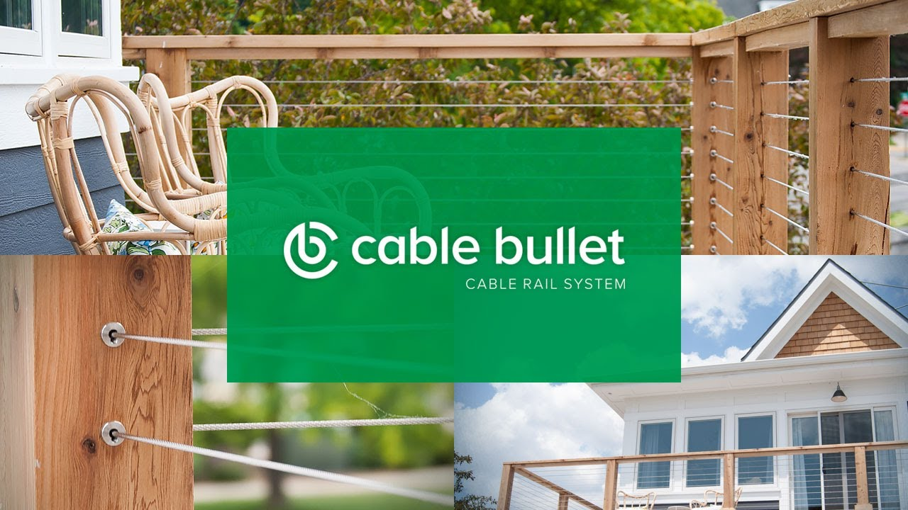 how to install diy cable railing on a cedar post deck - cable bullet