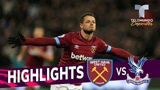 West Ham vs. Crystal Palace: 3-2 Goals & Highlights | Premier League | Telemundo Deportes