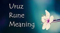 Elder Futhark- The Rune Uruz Meaning