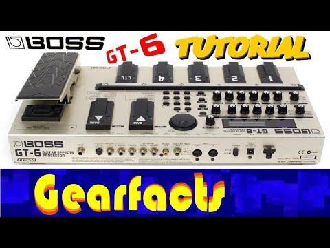boss gt 6 multi effects pedal tutorial youtube. Black Bedroom Furniture Sets. Home Design Ideas