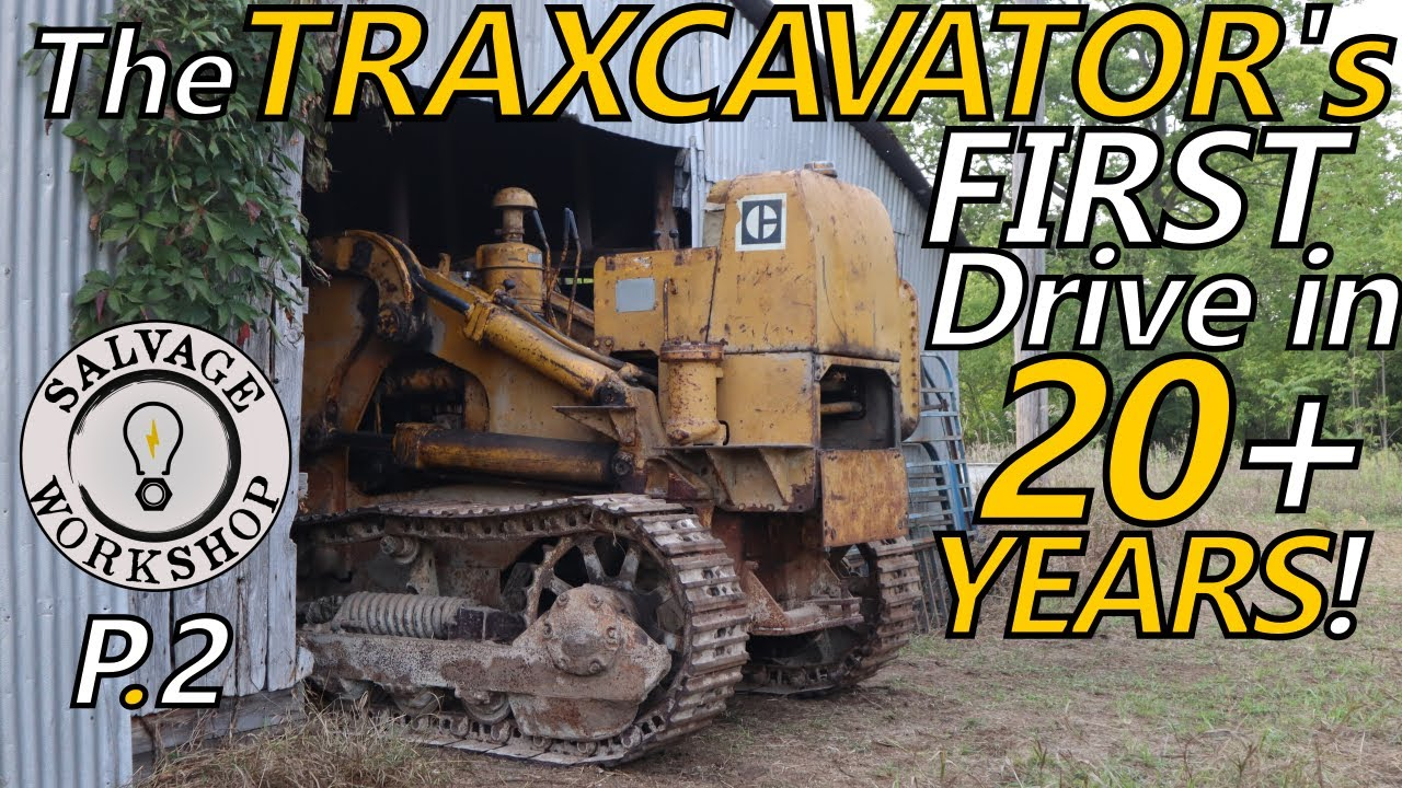 1950's Caterpillar TraxCavator ~ Will the DIESEL Start & will it DRIVE? P2 ~ Forgotten for 20+ YEARS