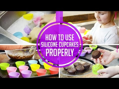 Rainbow Silicone Cupcake Liners By Kitchidy - How To Use Silicone Cupcakes Properly