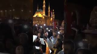 Lebanese protesters in Downtown Beirut in 9th day protest singing Beethoven 9th Symphony - 9 -