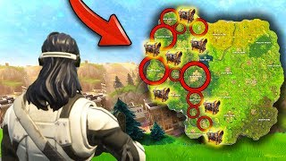 NEW MAP UPDATE + LEGENDARY LOOT LOCATIONS! (Fortnite Battle Royale)