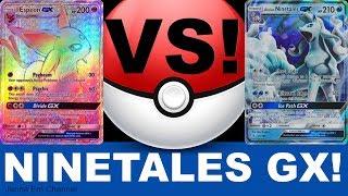 Pokemon Alolan Ninetales VS Espeon GX! PTCGO Jenna Em