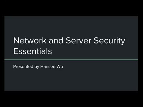 Network and Server Security Essentials
