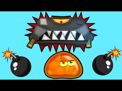 Суровый ЛИЗУН ГЛАЗАСТИК против БОССА! Игра Tales from Space About a Blob с ПАПУЛЕЙ
