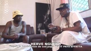 Hervé Nguebo reçoit la bénédiction de son papa Petit Pays Effatta