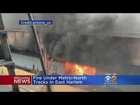 Fire Under Metro North Tracks