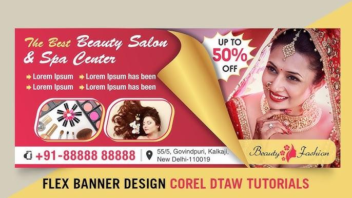 Beauty Parlour Flex Design Cdr Beauty Parlour Flex Design 2020 Youtube