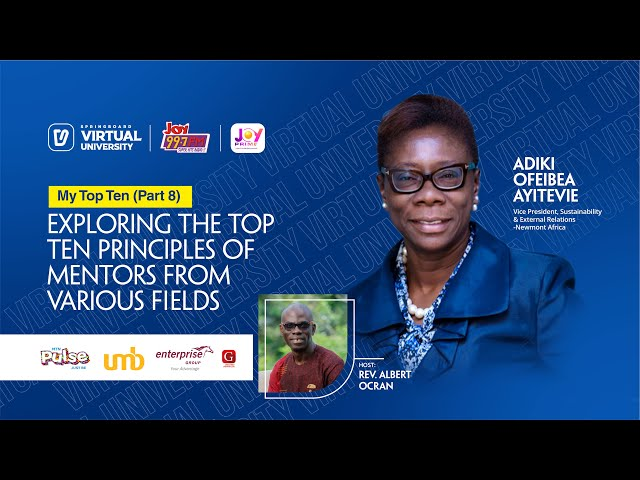 MyTopTen Episode 8 with Adiki Ayitevie, VP, Sustainability & External Relations, Newmont Corporation